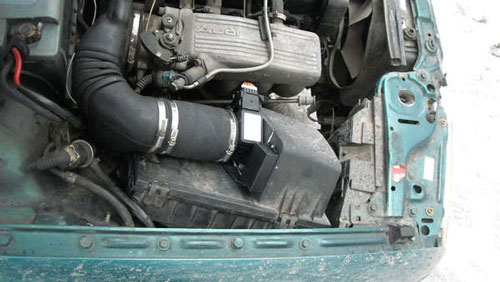 Установка расходомера 20.3855, Audi B4 ABK 92 г.