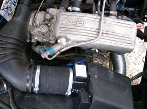 Установка волговского расходомера Audi ABK