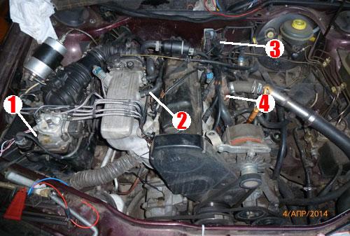 Моторный отсек Audi AAD